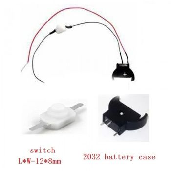 CR2032 Vertical Battery Holder with On/Off switch